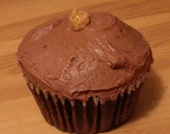 Chocolate Peanut Drop Cupcake